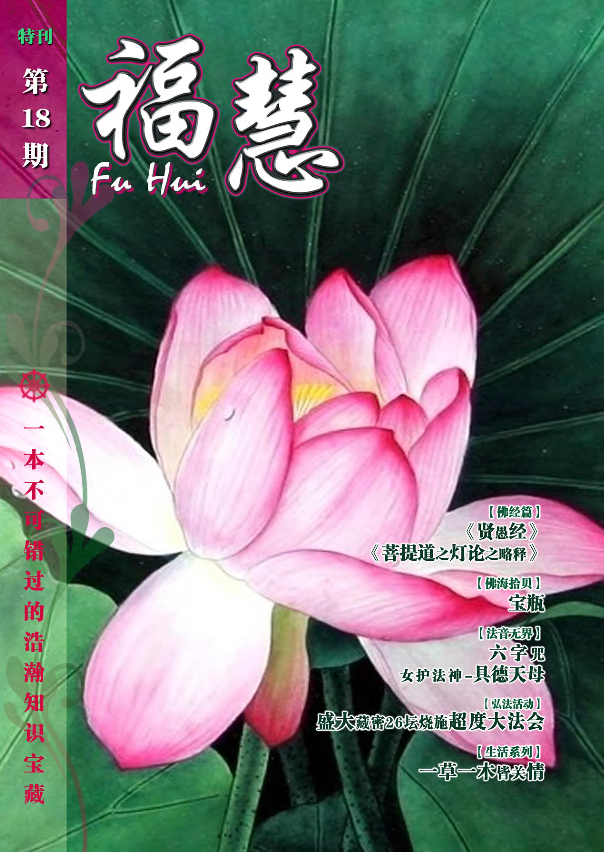 福慧18cover Page